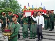 Ha Tinh reburies Vietnamese martyrs repatriated from Laos