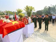 Dien Bien repatriates remains of voluntary soldiers from Laos