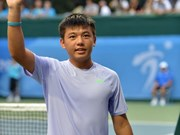 Nam through to Singapore tennis event's second round