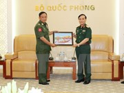 Top military officer receives Myanmar army delegation