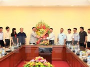 Hanoi Party Secretary congratulates  VNA on Journalism Day