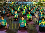 Vietnamese people celebrate International Yoga Day