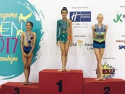 Gymnast Nguyen Ha My wins gold, silver in Singapore Open