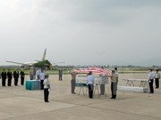 Repatriation ceremony held for US servicemen's remains
