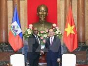 President Tran Dai Quang meets Haitian Senate President