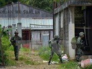Philippine army launches renewed push in Marawi