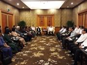Cambodian top legislator welcomed in Hanoi