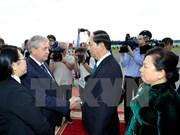 President arrives in Minsk, beginning official visit to Belarus