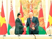Vietnam, Belarus issue joint statement to develop all-around partnersh