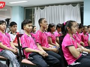 Professional training for badminton players in Thailand