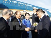 PM Nguyen Xuan Phuc arrives in Frankfurt, begins Germany tour