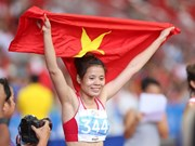 Vietnamese wins gold at Asian athletic event