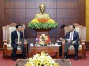 Lao Vice President visits Hoa Binh