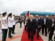 Party leader arrives in Phnom Penh, begins State visit