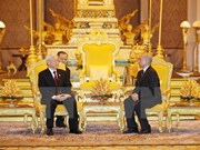 Party chief's State visit spotlighted on Cambodian media