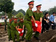 Burial service held for Vietnamese volunteer soldiers in Cambodia