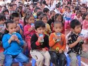 Children in Bac Ninh to benefit from school milk programme