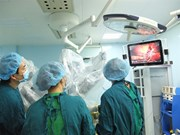 Vietnam's first robotic surgery on liver cancer patient