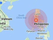Strong earthquake hits north Philippines