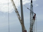 Ninh Thuan: First wind power turbines installed