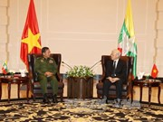 Party leader discusses defence ties with Myanmar military chief