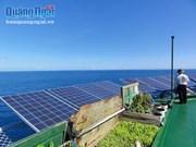An Binh island enjoys solar power