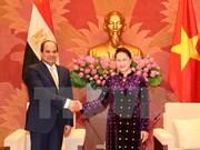 Top legislator hails relations with Egypt
