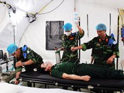 Practical training on level-2 field hospital equipment concludes