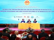 Int'l partners vow support for climate-resilient projects in Mekong Delta