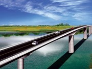 Nam Dinh: Work begins on Thinh Long bridge over Ninh Co River