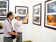 Exhibition features streets of Hanoi