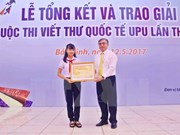 Vietnam celebrates 30th year participating in UPU contest