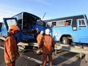 Malaysia: Eight workers killed in three-vehicle crash
