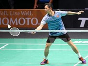 Top badminton player eliminated from French Open