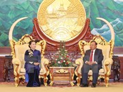 NA Chairwoman pays courtesy call on top Lao leader