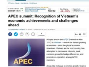 Foreign media spotlights Vietnam's hosting of APEC week