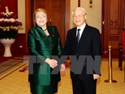 Party chief receives Chilean President Michelle Bachelet