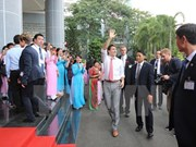 Canadian PM Justin Trudeau leaves HCM City for Da Nang city