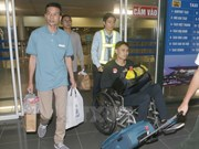 Vietnamese sailors rescued in Philippines return home