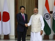 Japanese, Indian PMs pledge cooperation for free, open Asia-Pacific