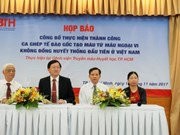 Vietnam succeeds in first peripheral blood stem cells transplant