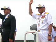 Thai PM present on navy ship for International Fleet Review procession
