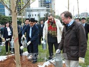 Hanoi plants 100 trees to mark Finland's 100 years of independence