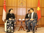NA Chairwoman hold talks with Singaporean counterpart