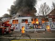 Fire breaks out in mall of Vietnamese in Orenburg, Russia
