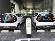 Singapore launches electric car-sharing programme