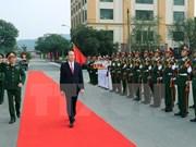President Tran Dai Quang visits Military Region 1