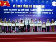 "84 women in Dong Thap awarded with ""Heroic Mother"" title"