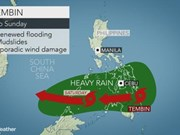 Typhoon Tembin lands in southern Philippines