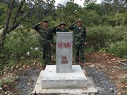 Dak Nong fulfils border marker planting task in 2017